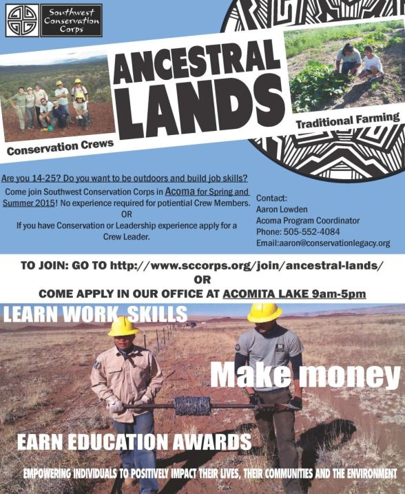 Ancestral Lands Small Flyer