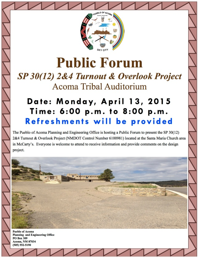 Flyer for public forum 4.13.2015
