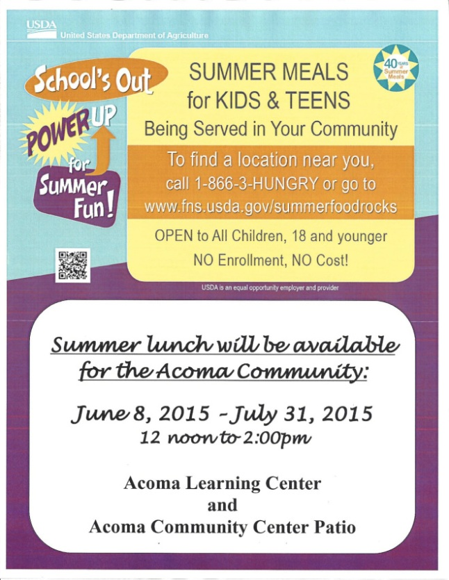 Summer Lunch Flyer