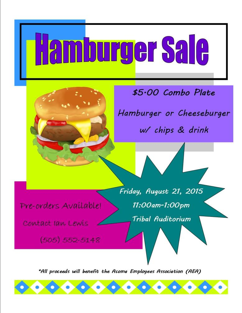 Modified Hamburger Sale