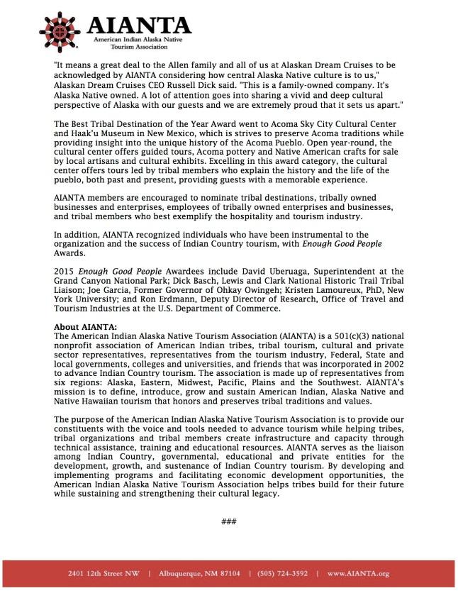 2015 Tribal Destination Awards_Press Release_FINAL(1)2