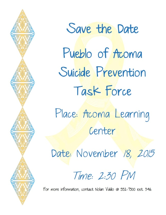 POA Suicide Task Force Flyer-Agenda