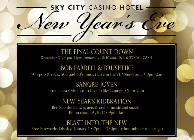 NYE Celebration Newsletter