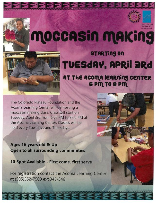 Acoma Moccasin Making