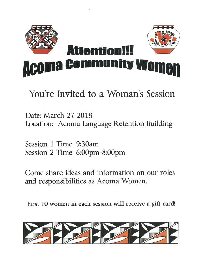 Acoma Womans Session