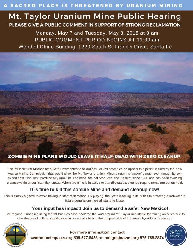 Mount Taylor Public Meeting Flyer-Revised with Public Comment Time