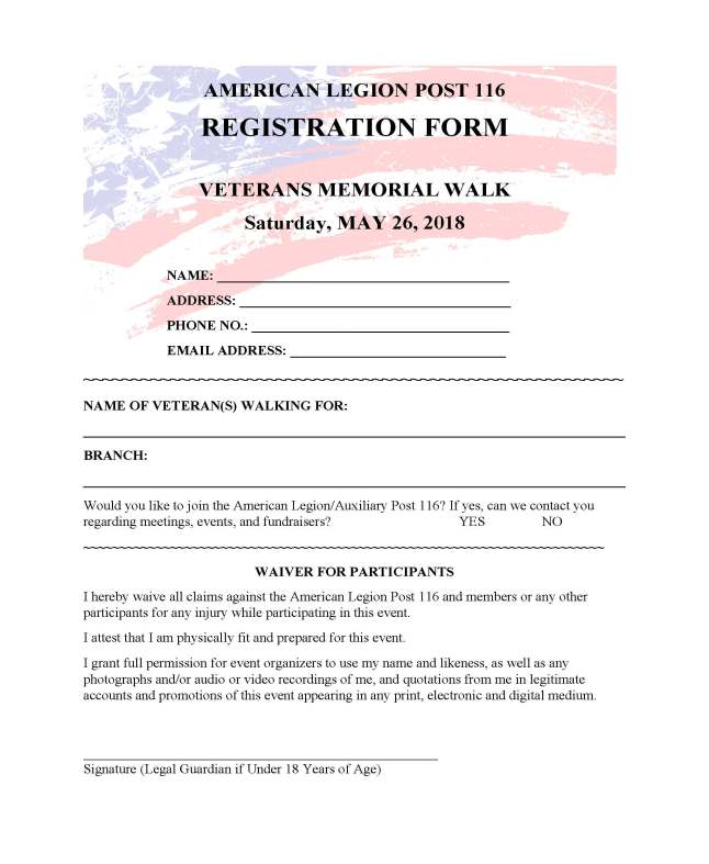 Post Registration Form