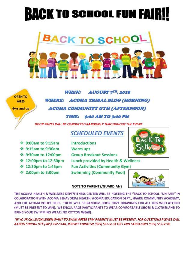 Back 2 School Fun Fair Flyer