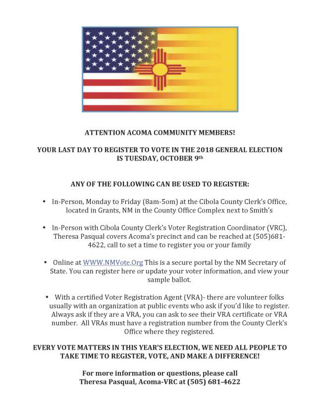 ATTENTION ACOMA COMMUNITY MEMBERS (002)