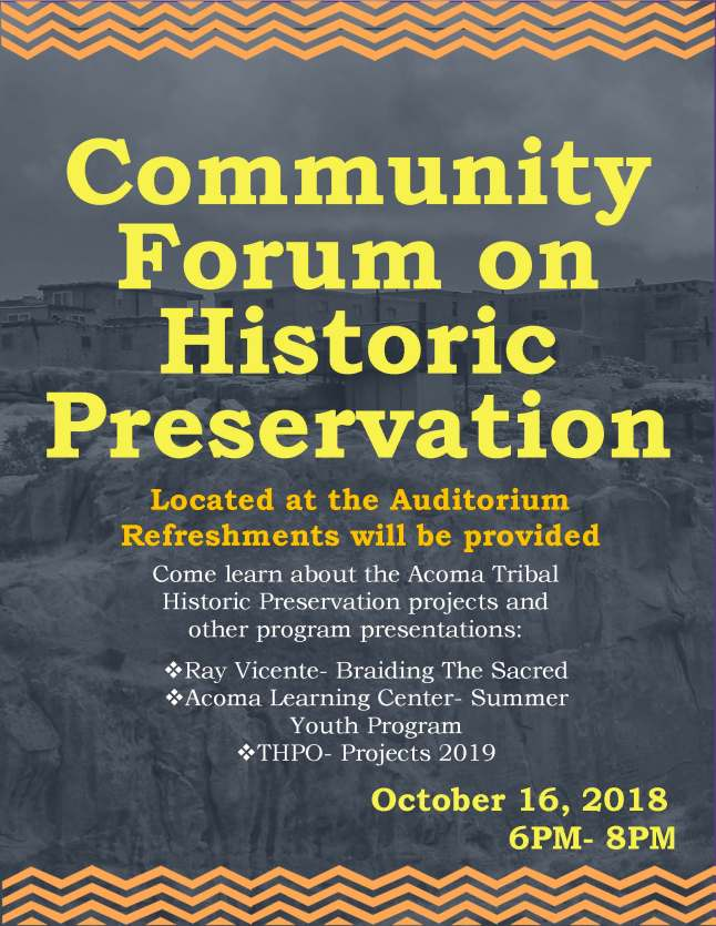 filer forum historic presentation
