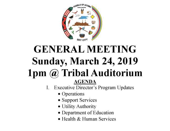 GENERAL MEETING Public Post