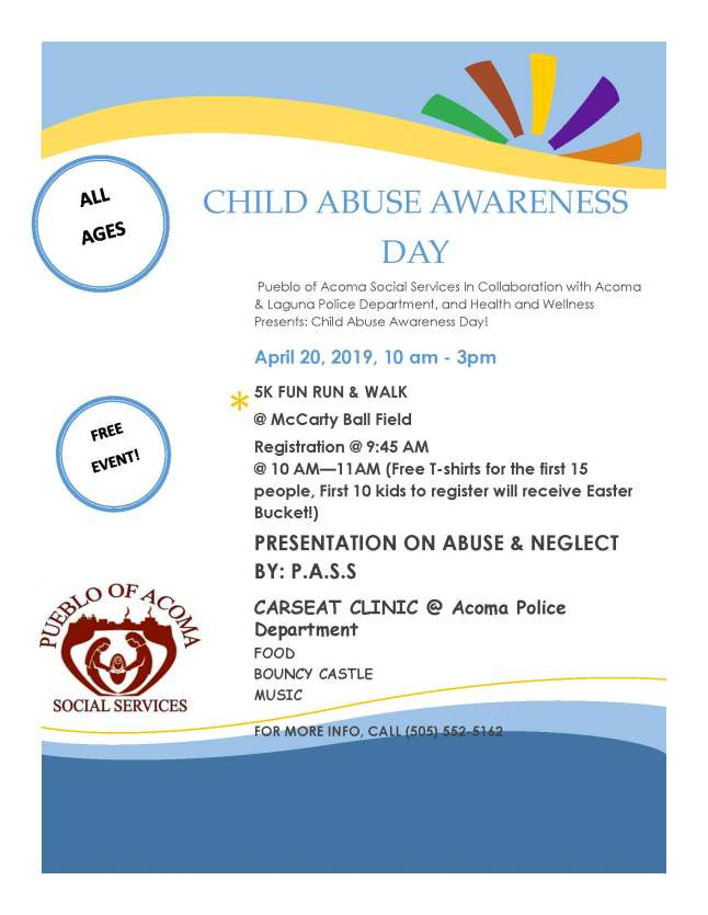Child Abuse Awareness Flyer