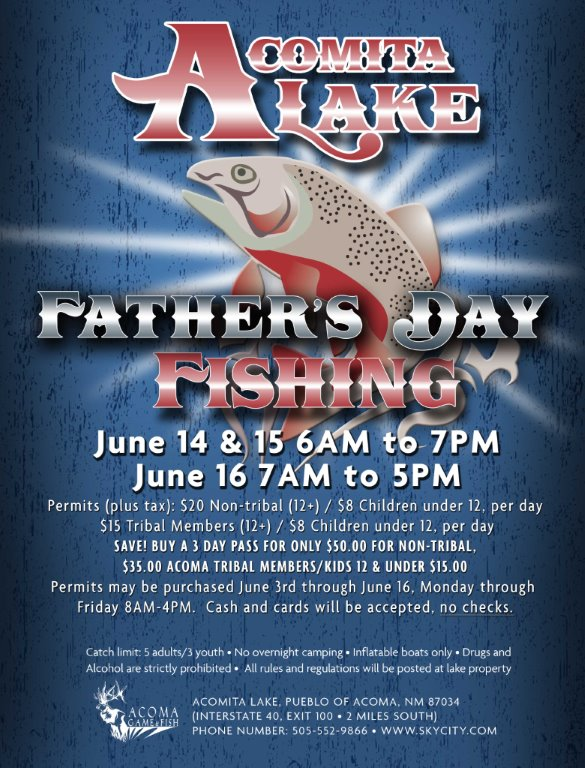 Acomita Lake 2019 Father's Day Fishing Weekend