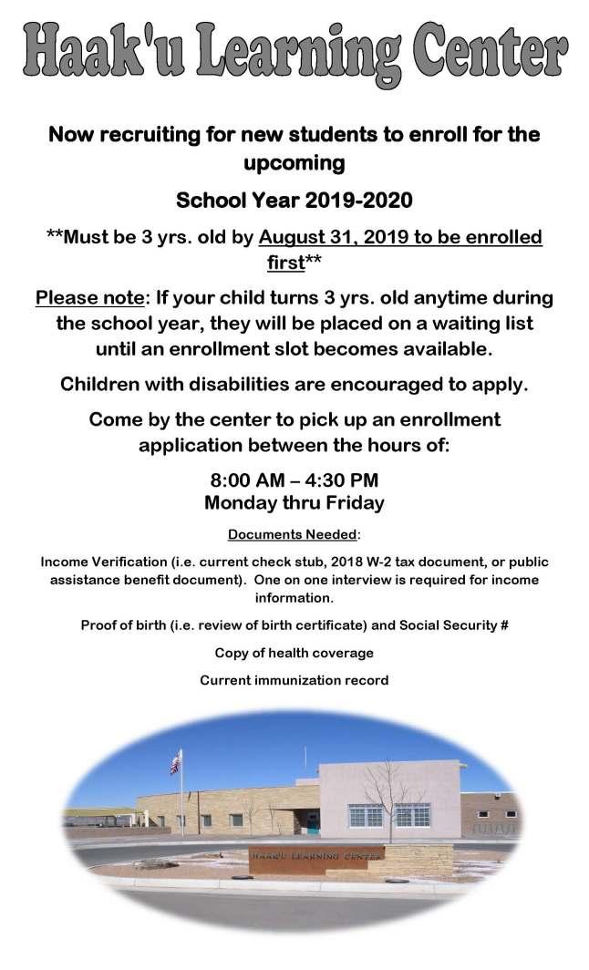 Recruitment flyer for community